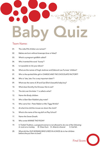Favoriete Baby Shower Quiz - a photo on Flickriver @WJ77