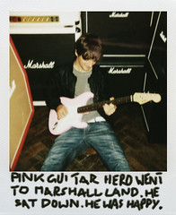 TEST#32 Pink Guitar Hero Went To Marshall Land. (polatweet) Tags: portrait orange polaroid deckchair guitar marshall christoph amps amplifiers impulse ikoon wieser klangfarbe polatweet