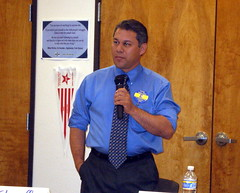 Greg Solano at recent DEM LT. GOV. FORUM