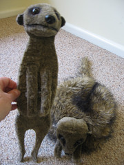 Meercat puppet and hat
