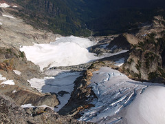 Looking Down to Glaciers and Pride Basin from Kyes