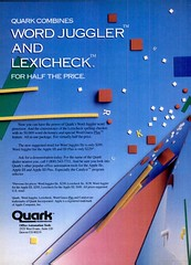 Quark Word Juggler and Lexicheck Ad
