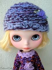 purple blossom helmet