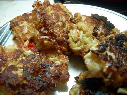 Faux crab cakes - take 1 Krab
