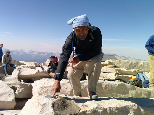 At the Mount Whitney Summit, Sept. 2009