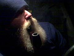 Artsy Fartsy! (baldheadedsmoker) Tags: beard pipe smoking bent smoker pipesmoker