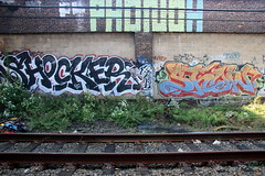 phonoh shocker show (Luna Park) Tags: show nyc ny newyork graffiti tracks roller lunapark rollers shocker akb trackside phonoh