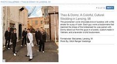 Real Weddings Feature screenshot of groom with his groomsmen, click to enlarge