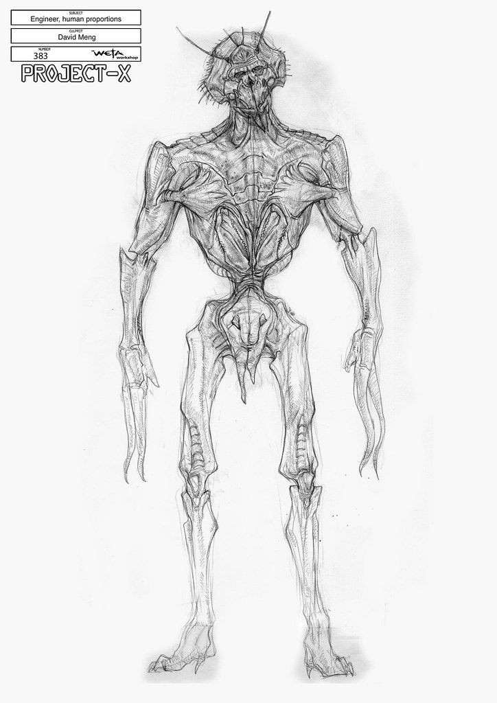 dibujo Sector 9 Alien lápiz