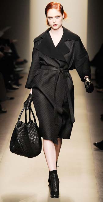 Bottega Veneta wrap coat Fall 2009