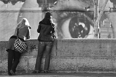 The eye is watching you! (Giusal) Tags: urban blackandwhite bw paris france blancoynegro graffiti rivedroite noiretblanc streetportrait nb marais ilestlouis urbain rive droite d90 surlevif anawesomeshot nikond90 portraitderue platinumheartaward