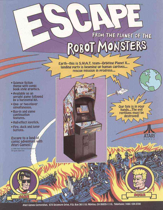 ATARI - ESCAPE FROM THE PLANET OF THE ROBOT MONSTERS