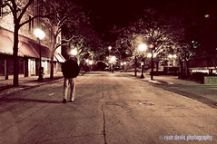 10.24.09 (ry-o-vision) Tags: street me night walking downtown streetlamps rockford ryandavisphotography