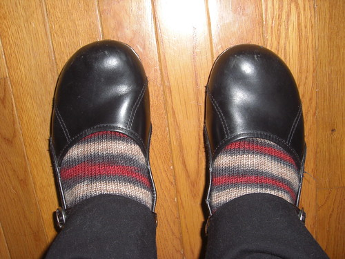 Rhinebeck Socks in use