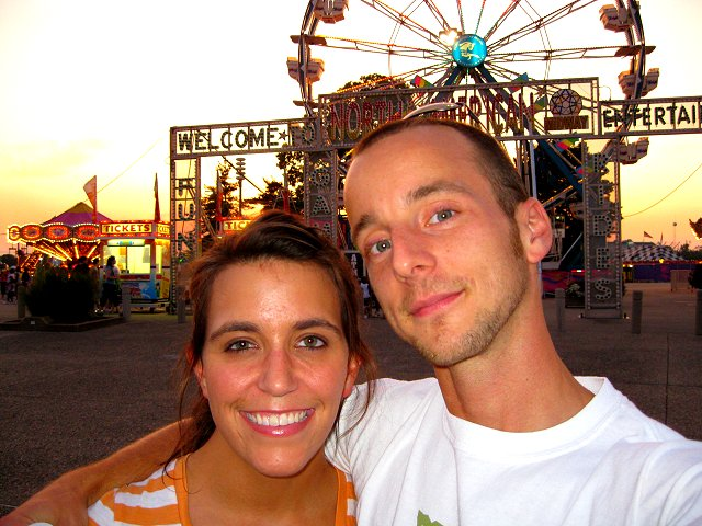 me and josh at the fair