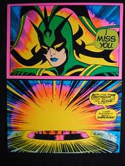 MARVEL COMICS THIRD EYE BLACKLIGHT GREETING CARD (VintageTrader) Tags: comics poster 1971 blacklight card 1970 marvel greeting thirdeye