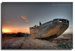 Towards the Twilight, by Mat (Mat Mackenzie) Tags: new sunset sky beach boat kent shingle rope east dungeness wreck built greatstone romney clinker dymchurch littlestone shepway sflandscapes