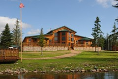 North Haven Resort main lodge from the water (North Star and North Haven Resorts) Tags: canada haven plane lunch corporate star fly fishing cabin five north lodge resort manitoba gourmet shore pike float northern spa luxury walleye sauna outpost