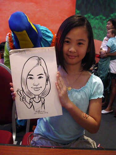Caricature live sketching for Marina Square X'mas Tenants Gathering 2009 - 23