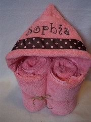 pink/brown dot (spiritofgiving) Tags: towels custom personalized hooded