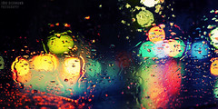 Rainy Bokeh (Jrg Dickmann) Tags: topf25 colors rain night 50mm lights colours dof traffic bokeh explore rainy raindrops windshield dsseldorf topf100 top50 canon50mmf14 iso2000 jrgdickmann canon5dmk2