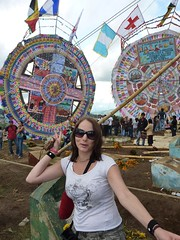 Me being silly at the festival... aided by Jules.