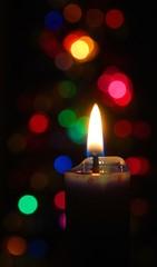 Christmas Lights (davidwilliamreed) Tags: christmas tree lights candle dof bokeh flame ih