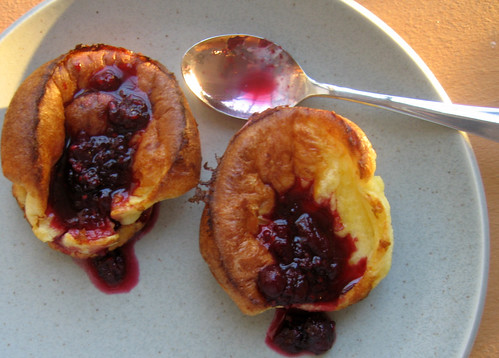 breakfast - popovers with berry reduction
