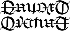 """Gaudet"" & ""Overturf"" Ambigram"