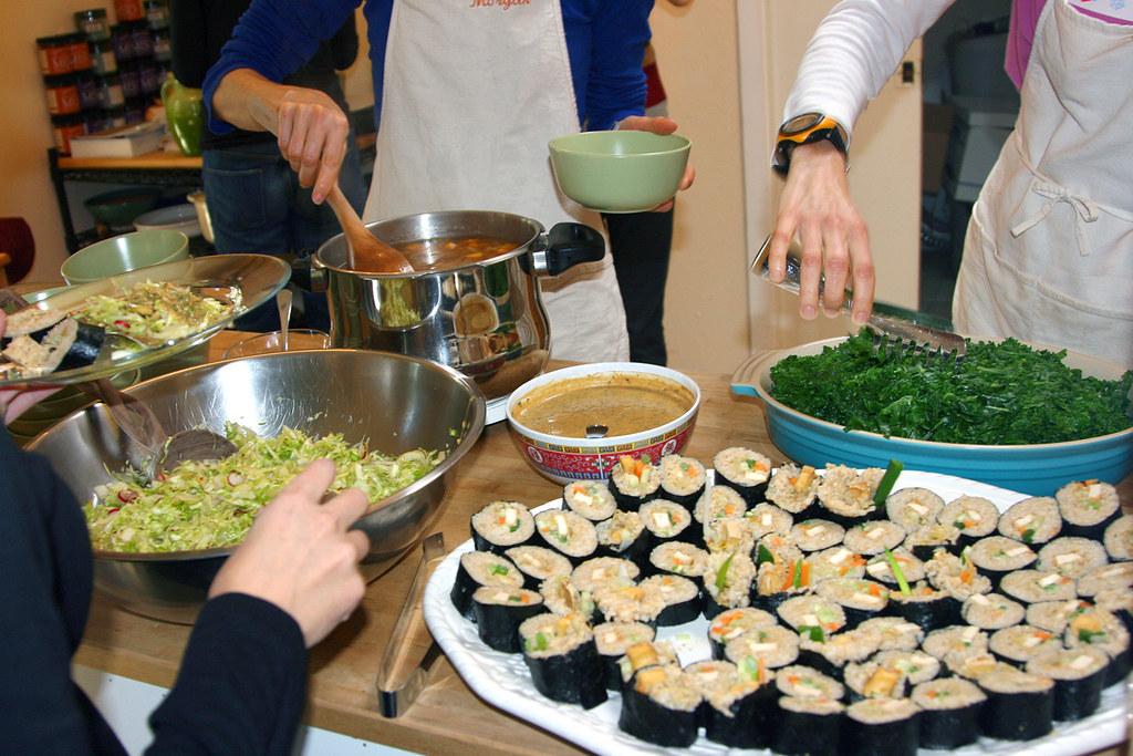 Workshop Lunch  [Natural Epicurean Cooking School]