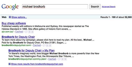 Michael Brodkorb on Google