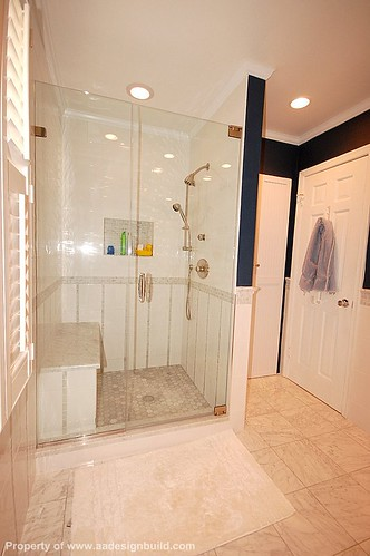 www.aadesignbuild.com, A&A Design Build Remodeling, Master Bathroom, Frameless Shower, Rockville Maryland, Aging in Place by A&A Design Build Remodeling, Inc.