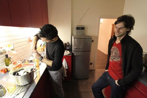 Toon and Pablo in the kitchen...
