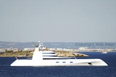Yacht 'A' (Nick Aiton) Tags: nova boat spain nikon yacht nick helicopter d200 billionaire russian tamron mallorca robinson majorca andrey oligarch plama 70300 r44 aiton a yachta motoryachta meinichenko