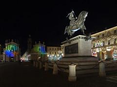 Torino - Luci d'artista 3 - Piazza San Carlo (puss_in_boots) Tags: torino san luci carlo piazza turin dartista
