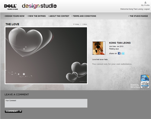 Customized Dell Design Studio