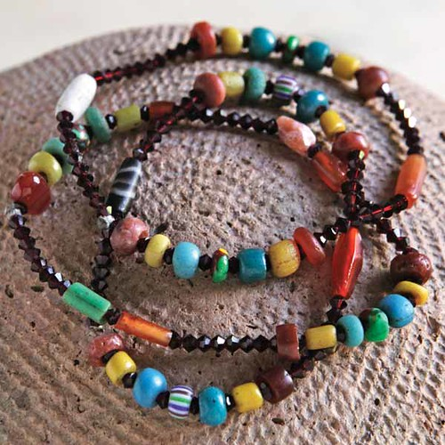 beaded-bracelets by saharan arts.
