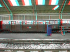 Carriages at Romney in 3d ( anaglyph )