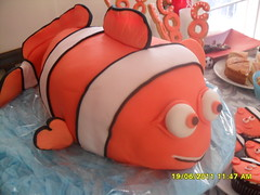 3D Nemo Birthday Cake (lesleyjoyce) Tags: birthday orange cake nemo fondant