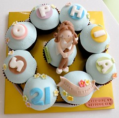21st Birthday Cake And Cupcake Ideas