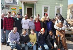 volunteers on Buffalo's West Side help clean & prepare vacant properties for rehab (courtesy of PUSHBuffalo)