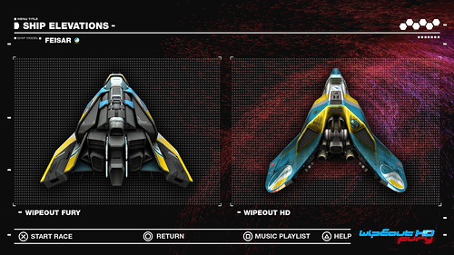 WipEout HD Fury - Feisar Ship Elevations, 2