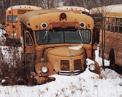 A JUNK 1955 REO SCHOOL BUS IN JAN 1988 (richie 59) Tags: hudsonvalley 1980s junkyards buses rust junk clunkers snow nystate upstateny reo oldbuses rustyoldtrucks dutchesscounty midhudsonvalley 35mm 1988 dutchesscountyny oldtrucks trucks newyorkstate upstatenewyork rusty yellow headlights headlight oldbus rustybuses rustybus 5 rusted stissingny abandonedbuses abandonedbus abandonedtrucks abandonedtruck junkbuses junkbus junktrucks junktruck oldschoolbuses oldschoolbus oldtruck truck bus reotrucks reotruck jan311988 jan1988 americantrucks americantruck ustruck 1950struck old rustytrucks rustytruck richie59 rustyschoolbus rustyreo motorvehicles yellowbuses americanbus winter oldpicture picturescan old35mmpictures photogragh unitedstates townofpineplainsny townofpineplains