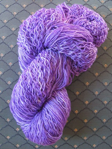 Purple yarn in skein