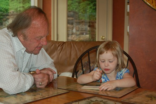 Grandpa and Leda, June 2009