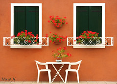 Windows from Burano (Nino H) Tags: windows italy house colors table italia lagoon venezia riri 83 italie burano venitian inthestreet abigfave gettyimagesitalyq1