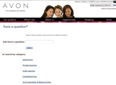 Avon contact details