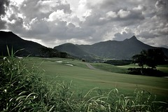 Clearwater Bay Golf Club - Rough (Tomorrow Bystander) Tags: sky green grass clouds golf hongkong dusk path course casio bunker fairway cart exilim clearwaterbay saikung exfc100