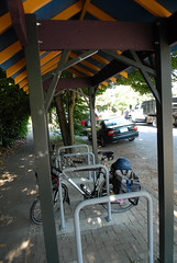 residential bike parking shelter in SE Portland-5