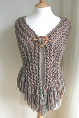 Fiona Shawl (Hand Knitted Things) Tags: uk orange brown green design knitting hand handmade knit things shawl knitted